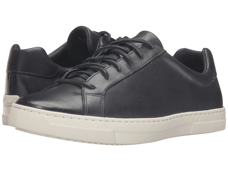 Clarks - Ballof Up (Navy Leather) Men's Lace up casual Shoes