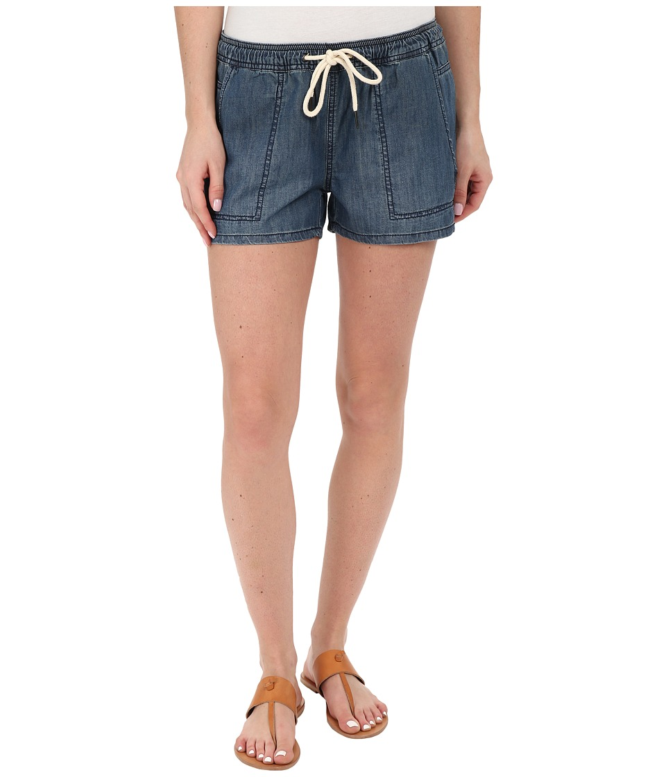 Blank NYC - Denim Drawcord Shorts (Denim Blue) Women's Shorts