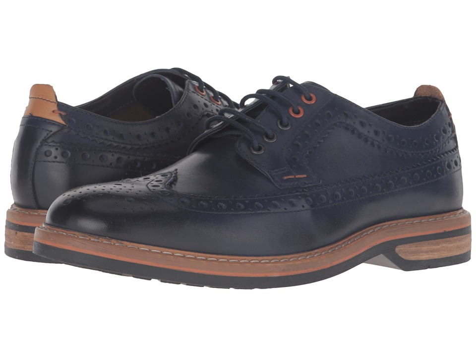 Clarks Pitney Limit (Blue Leather) Men