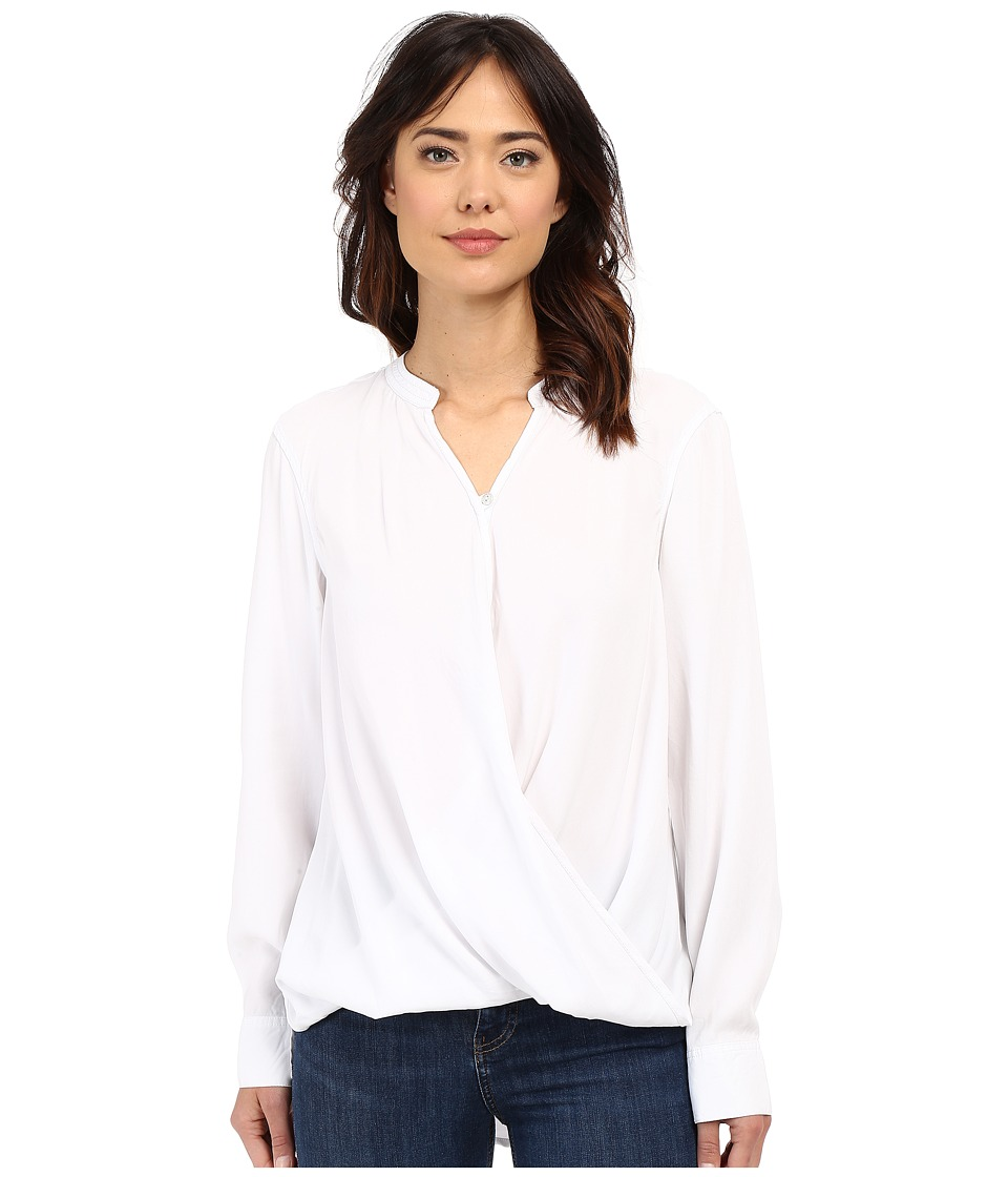 Blank NYC - Drape Front Shirt (White) Women's Clothing