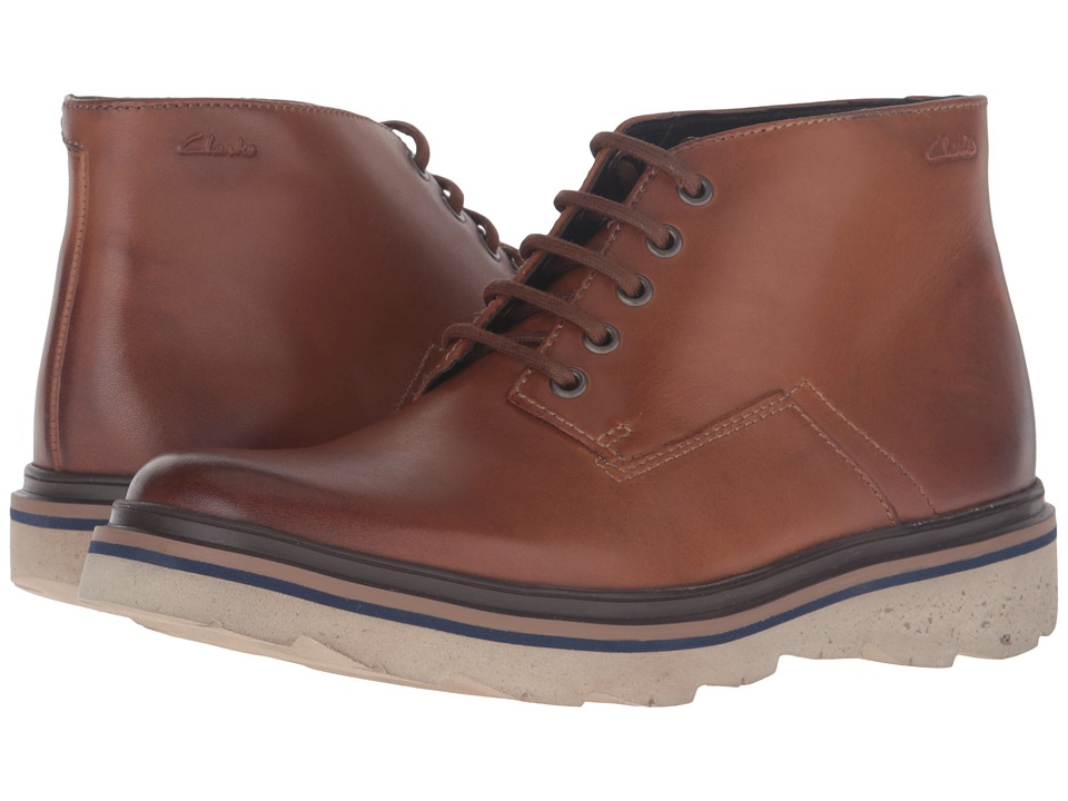 Clarks Frelan Hike (Cognac Leather) Men