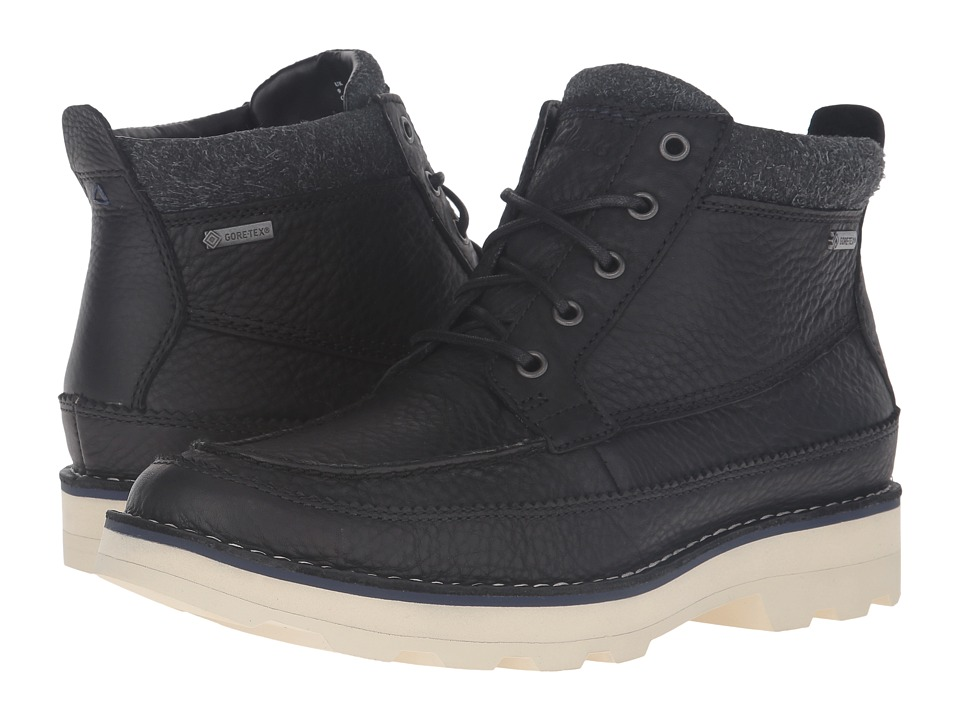 Clarks Korik Rise GTX (Black Leather) Men