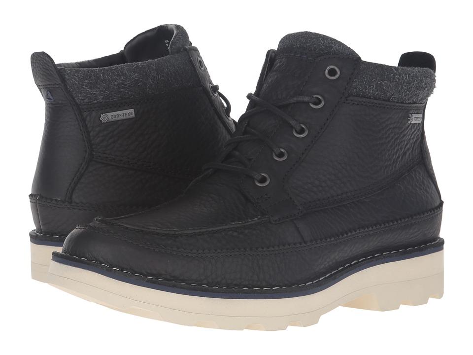 Clarks - Korik Rise GTX (Black Leather) Men's Boots