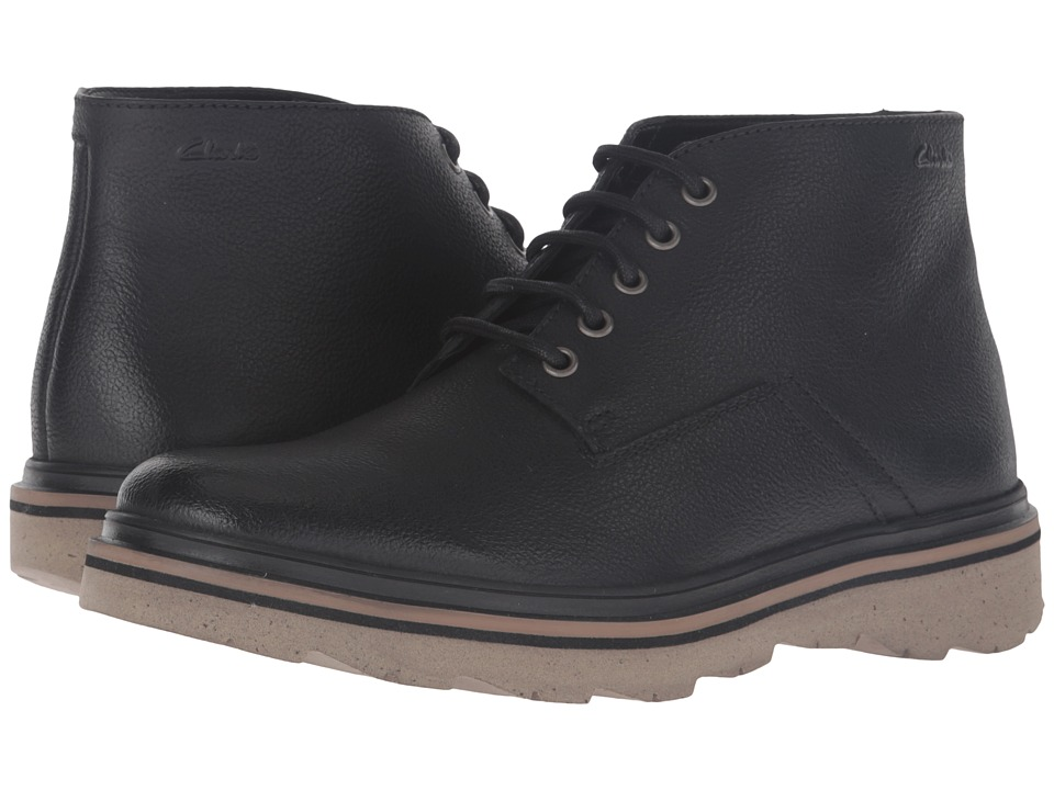 Clarks - Frelan Hike (Black Leather) Men's Boots