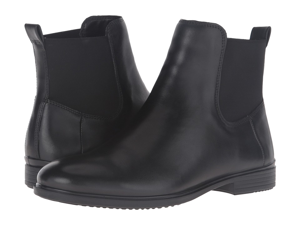 ECCO Touch 15 Ankle Boot (Black Cow Leather) Women