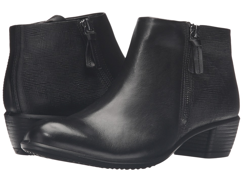 ECCO - Touch 35 Bootie (Black/Black Cow Leather) Women's Boots
