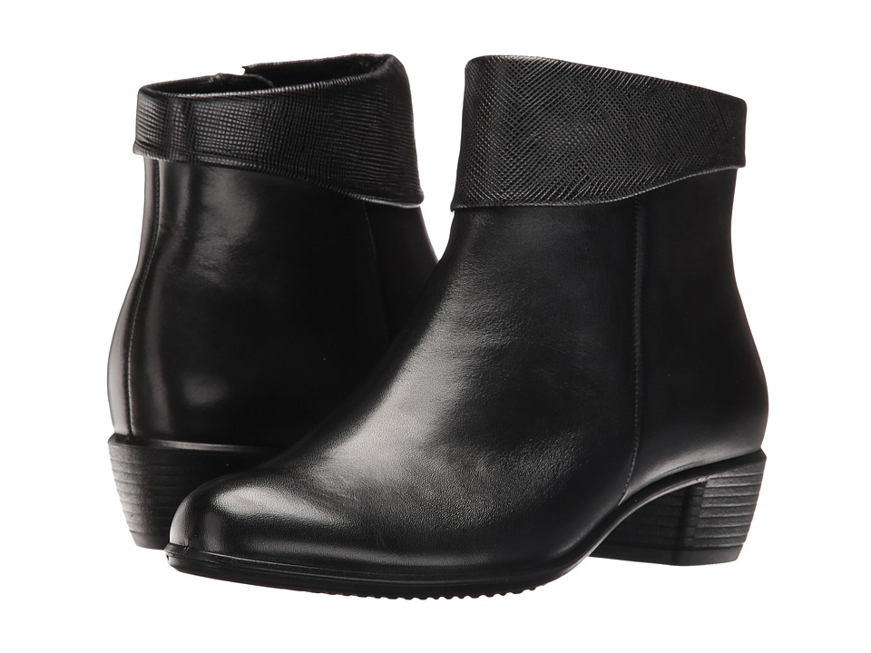 ECCO - Touch 35 (Black/Black) Women's Boots