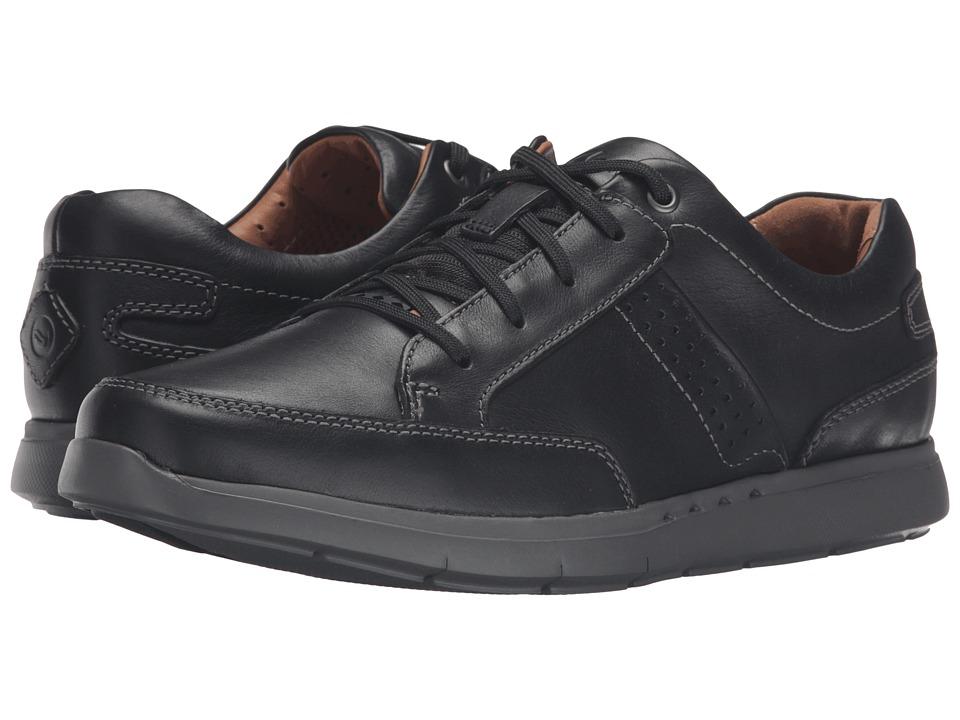 Clarks - Un.Lomac Lace (Black Leather) Men's Lace up casual Shoes