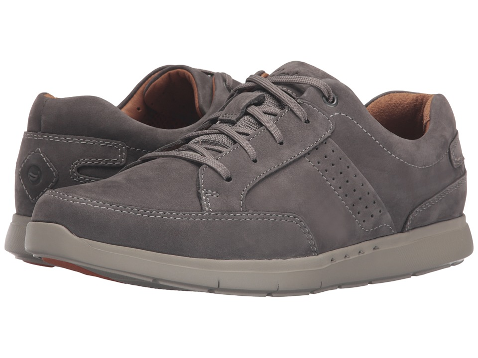 Clarks - Un.Lomac Lace (Grey Nubuck) Men's Lace up casual Shoes