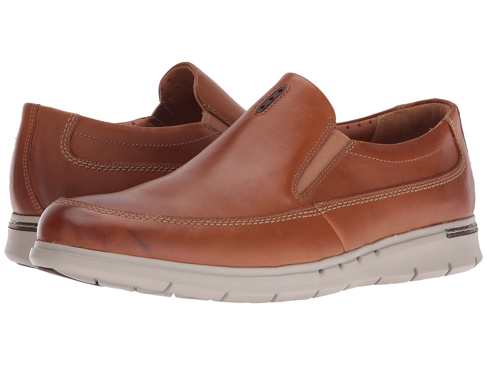 Clarks - Un.Byner Easy (Tan Leather) Men's Slip on Shoes