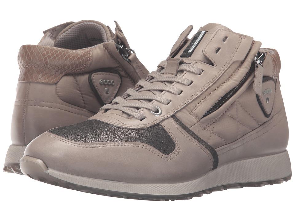 ECCO - Sneak Zip (Moon Rock/Dark Shadow/Moon Rock) Women's Shoes