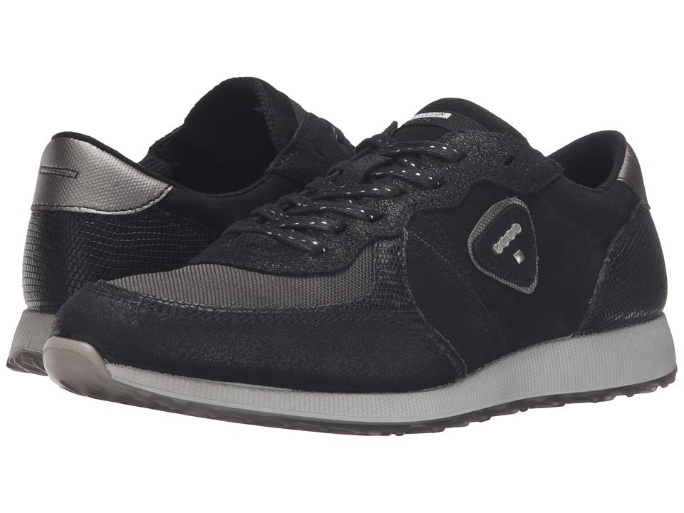 ECCO - Sneak (Black/Black/Black) Women's Shoes