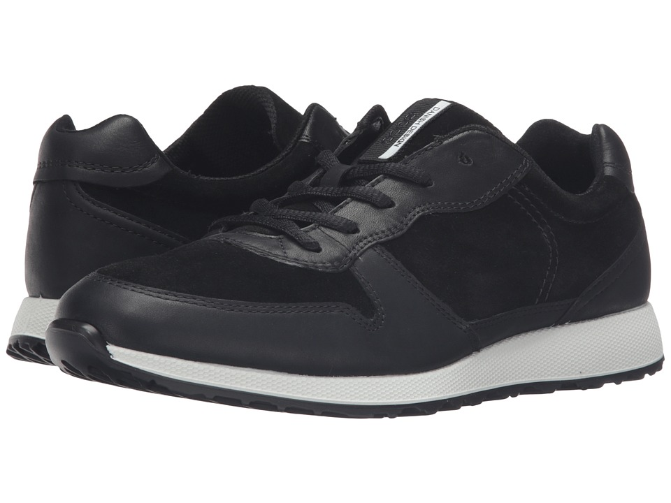 ECCO - Sneak Tie (Black/Black) Women's Shoes