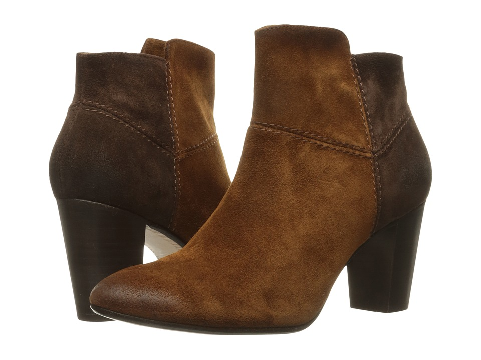 Johnston & Murphy Alex Bootie (Cognac/Brown Italian Suede) Women