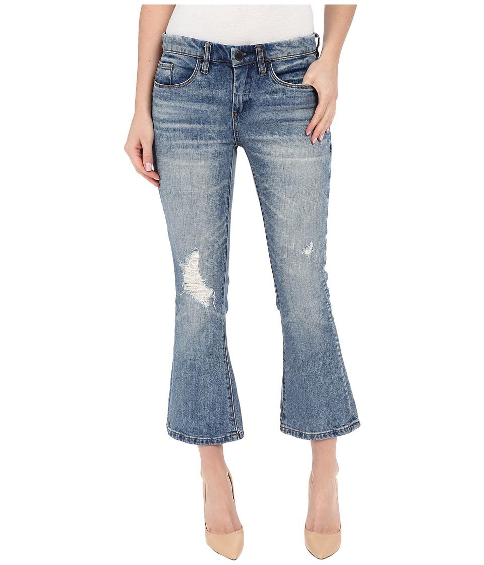 Blank NYC - Crop Kick Flare Jeans in Denim Blue (Denim Blue) Women's Jeans