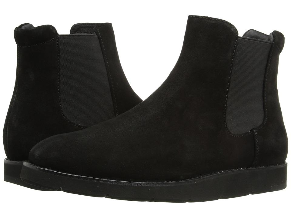 Johnston & Murphy Bree Gore Ankle Boot (Black Italian Waterproof Suede/Black Waterproof Gore) Women