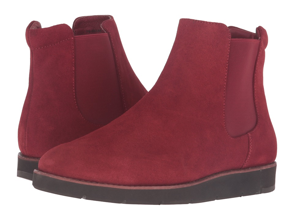 Johnston & Murphy Bree Gore Ankle Boot (Dark Red Italian Waterproof Suede/Dark Red Waterproof Gore) Women