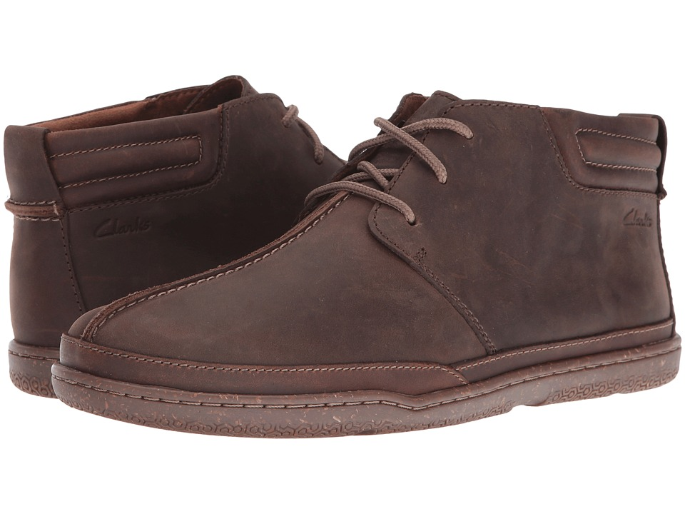 Clarks Trapell Mid (Dark Brown Leather) Men