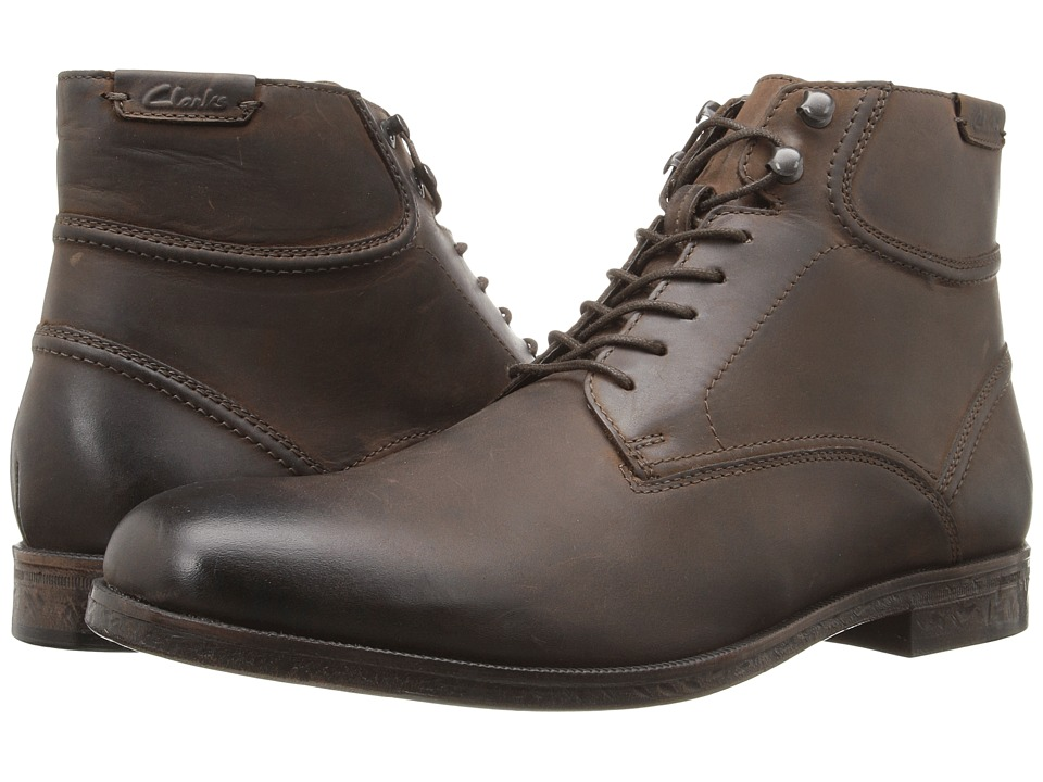 Clarks - Brocton High (Dark Brown Leather) Men's Boots