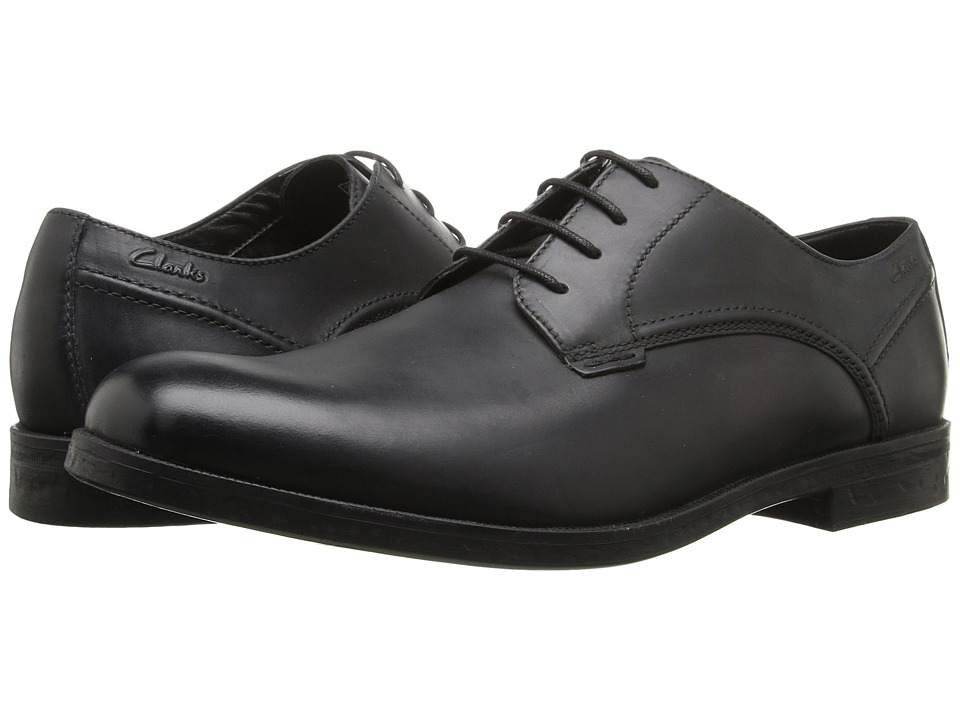 Clarks - Brocton Walk (Black Leather) Men's Lace up casual Shoes