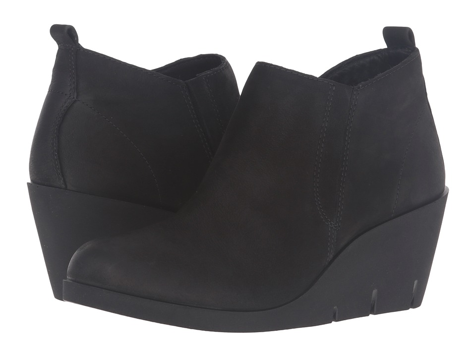 ECCO Bella Wedge (Black Cow Nubuck) Women