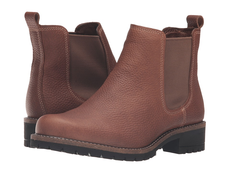 ECCO Elaine Chelsea Boot (Cocoa Brown Cow Leather) Women