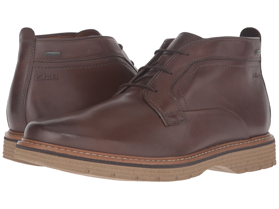 Clarks - Newkirk Up GTX (Brown Leather) Men's Shoes