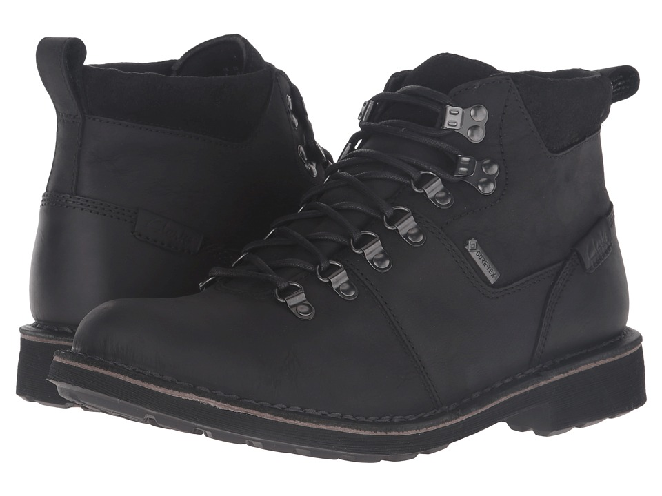 Clarks - Lawes High GTX (Black Leather) Men's Boots