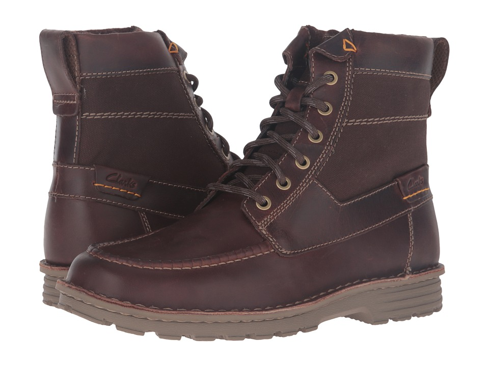 Clarks - Sawtel Hi (Brown Leather) Men's Boots