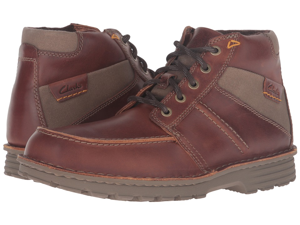 Clarks Sawtel Summit (Tan Leather) Men