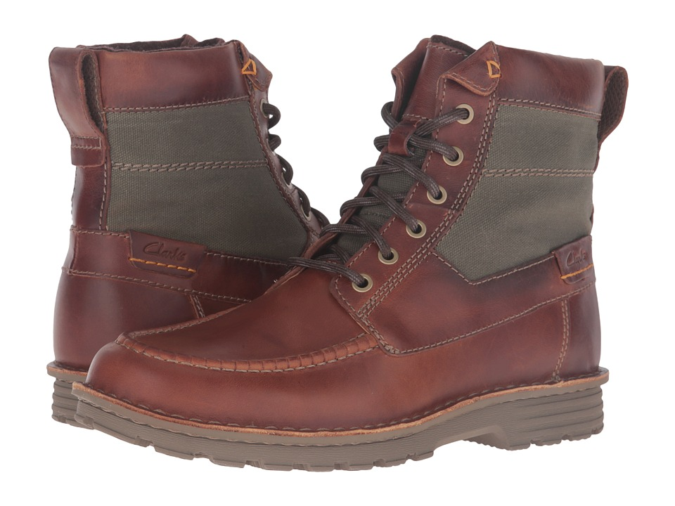 Clarks - Sawtel Hi (Tan Leather) Men's Boots