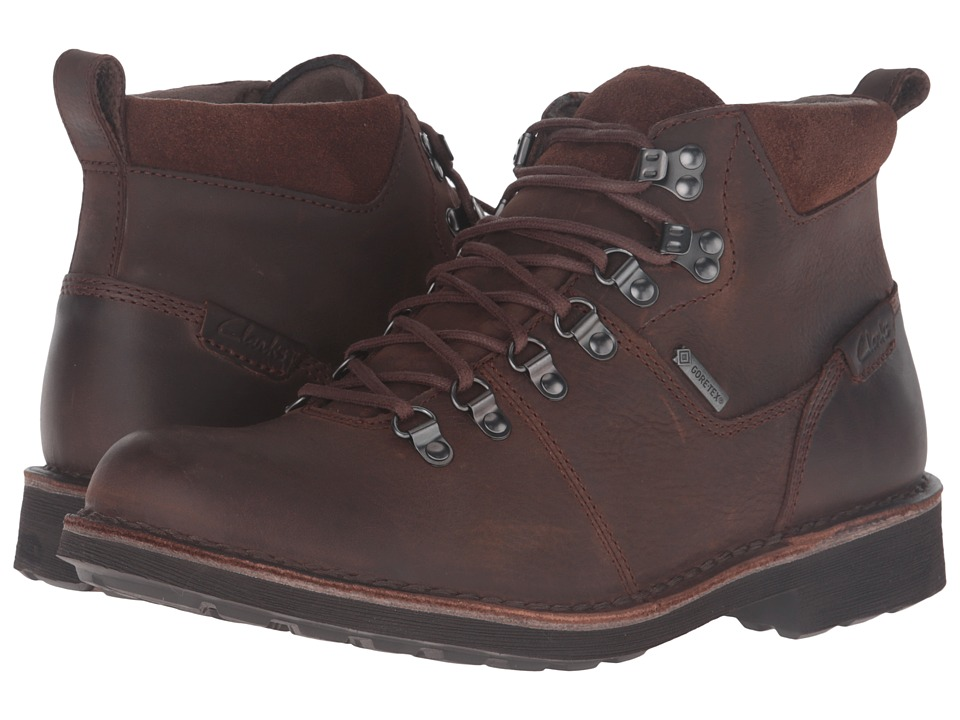 Clarks Lawes High GTX (Brown Leather) Men
