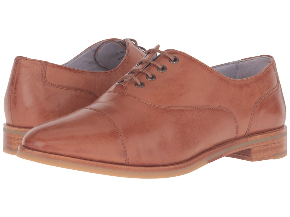 Johnston & Murphy - Charlene Oxford (Teak Italian Waxy Leather) Women's Lace Up Wing Tip Shoes