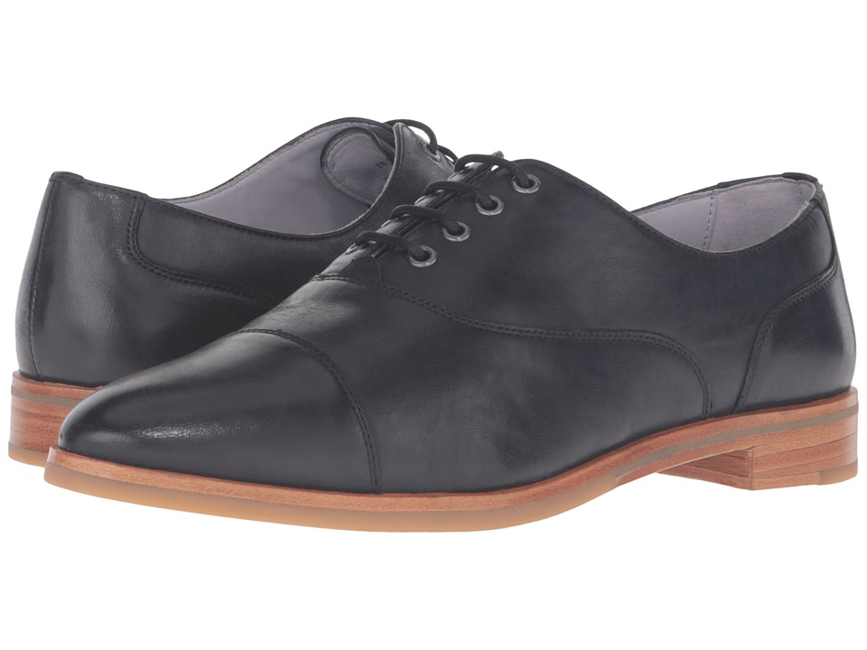 Johnston & Murphy - Charlene Oxford (Black Italian Waxy Leather) Women's Lace Up Wing Tip Shoes