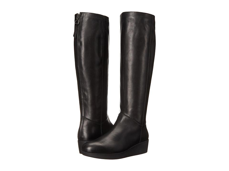 Johnston & Murphy Darcy Tall Boot (Black Waterproof Leather) Women