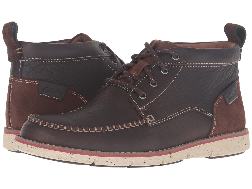 Clarks Kyston Mid (Dark Brown Leather) Men