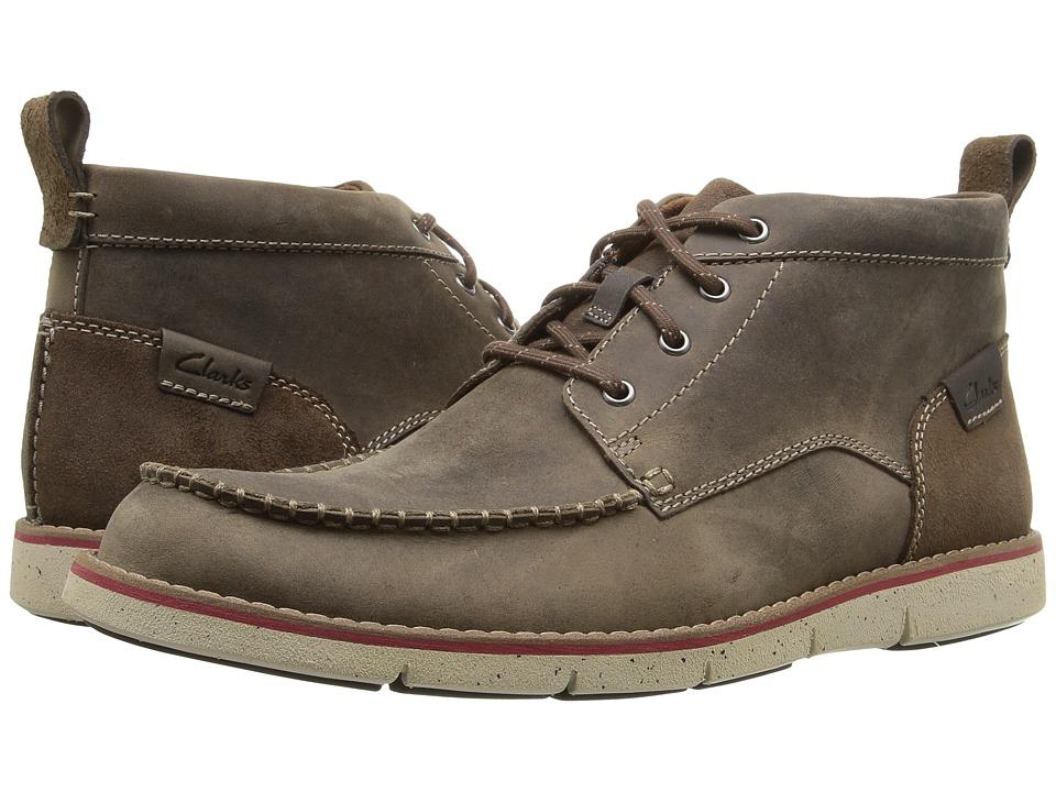 Clarks - Kyston Mid (Mushroom Nubuck) Men's Boots