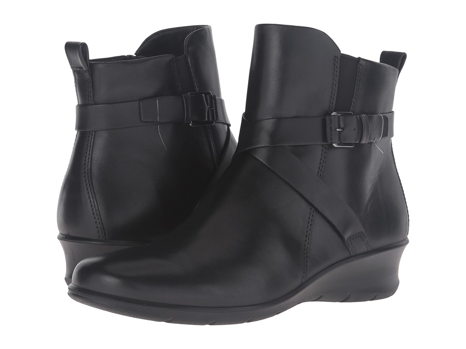ECCO - Felicia Ankle Buckle (Black Cow Leather) Women's Boots