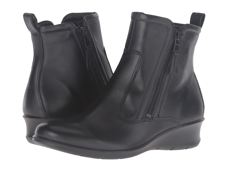 ECCO Felicia Ankle Boot (Black Cow Leather) Women