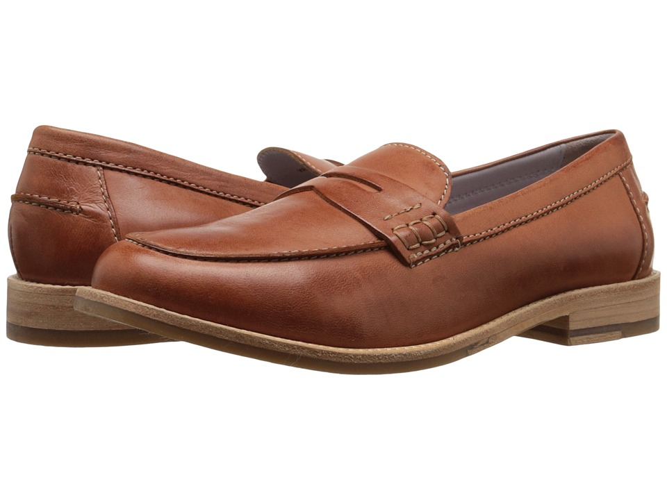 Johnston & Murphy - Gwynn Penny Loafer (Teak Italian Waxy Leather) Women's Slip-on Dress Shoes