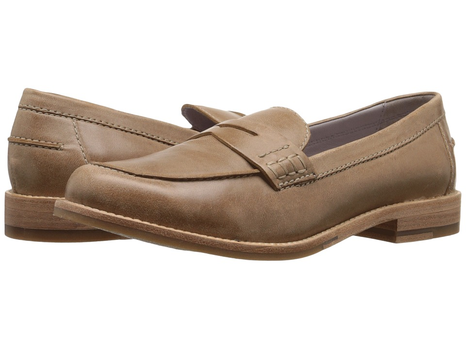 Johnston & Murphy - Gwynn Penny Loafer (Sand Italian Waxy Leather) Women's Slip-on Dress Shoes
