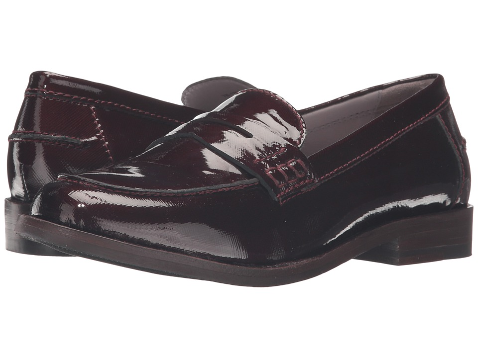 Johnston & Murphy - Gwynn Penny Loafer (Bordeaux Patent Leather) Women's Slip-on Dress Shoes