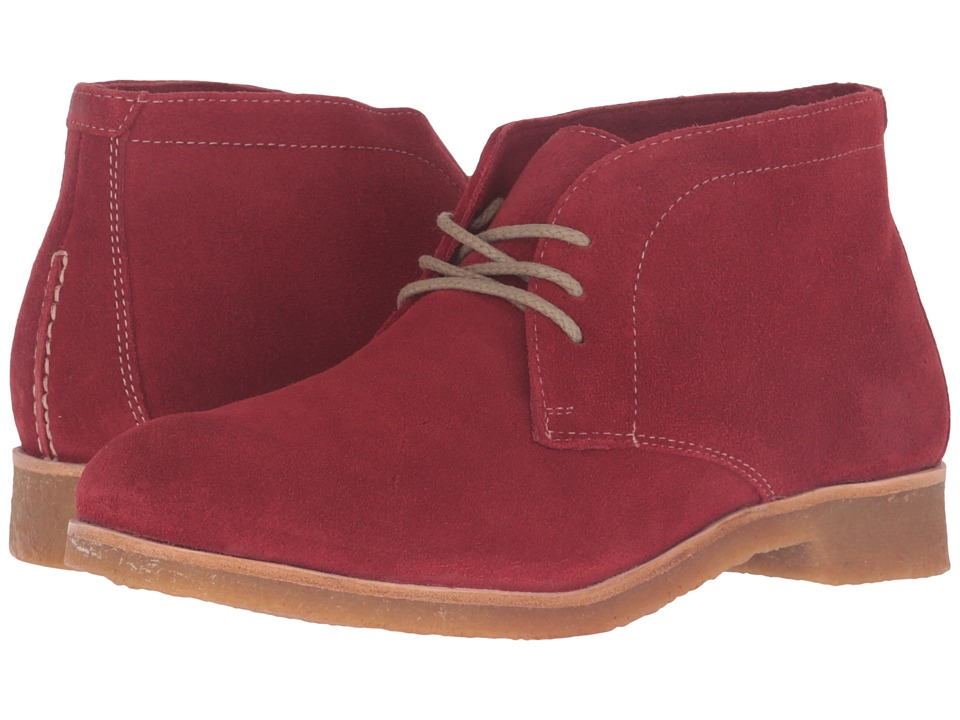 Johnston & Murphy - Hayden Chukka (Dark Red Suede) Women's Lace-up Boots