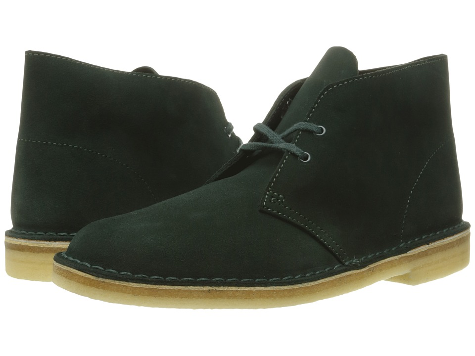 Clarks - Desert Boot (Dark Green Suede) Men's Lace-up Boots