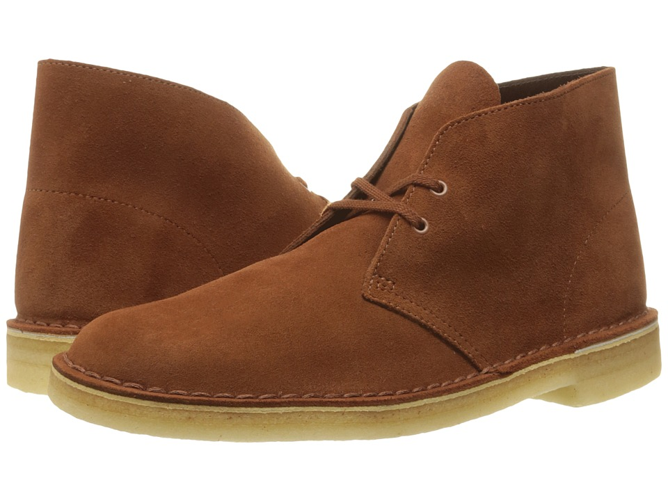 Clarks - Desert Boot (Dark Tan Suede) Men's Lace-up Boots