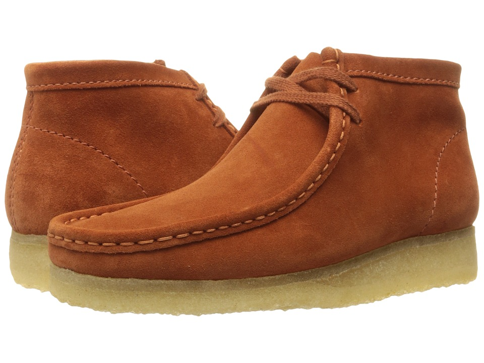 Clarks - Wallabee Boot (Rust Vintage Suede) Men's Lace-up Boots