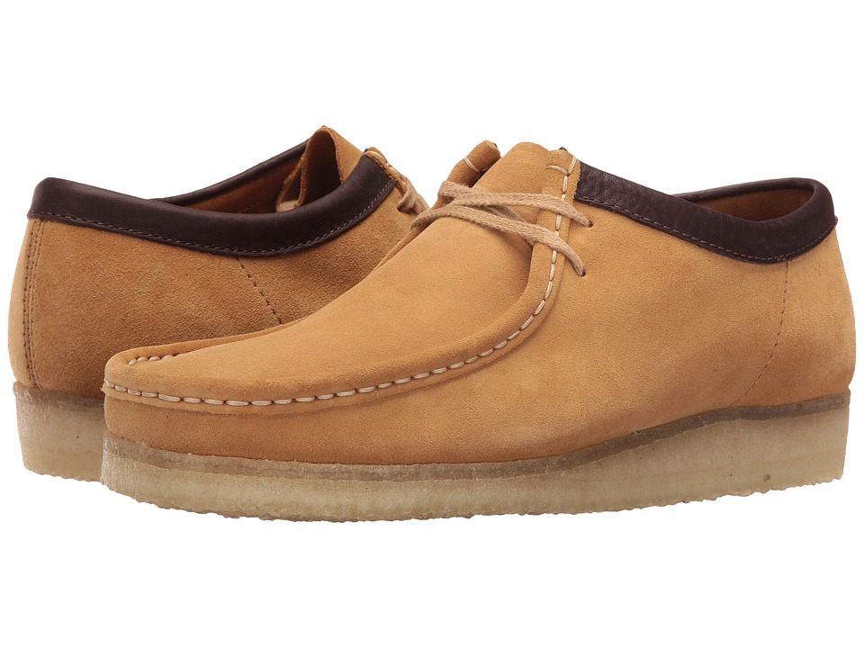 Clarks - Wallabee (Camel Suede) Men's Lace up casual Shoes