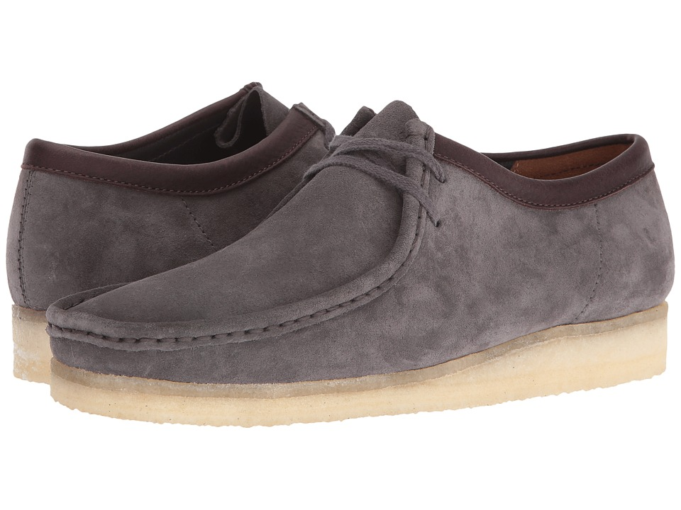 Clarks - Wallabee (Charcoal Suede) Men's Lace up casual Shoes