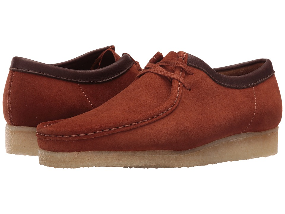 Clarks - Wallabee (Dark Tan Suede) Men's Lace up casual Shoes