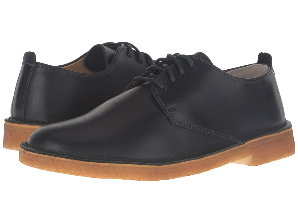 Clarks Desert London (Dark Navy Leather) Men